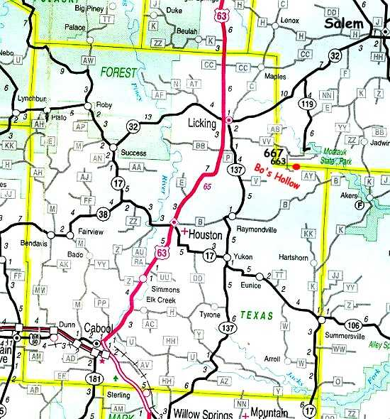 Texas Road Map With County Lines East Texas County Line Map